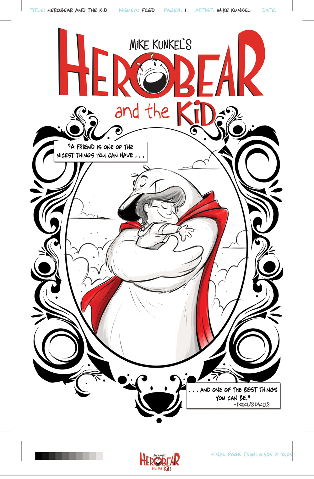 Splash Page to the special 6-page story for Free Comic Book Day 2013