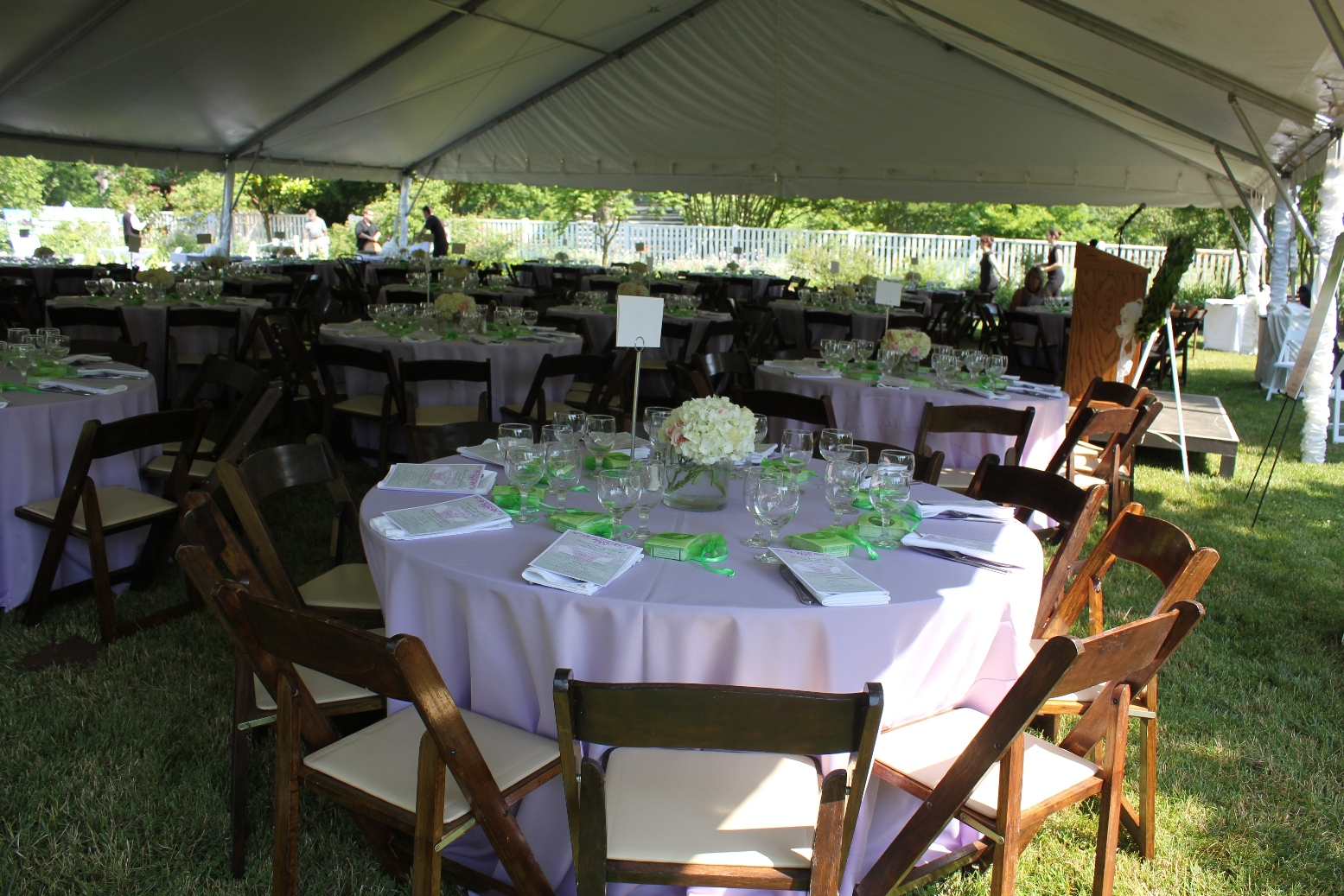 Tented Event in The Garden
