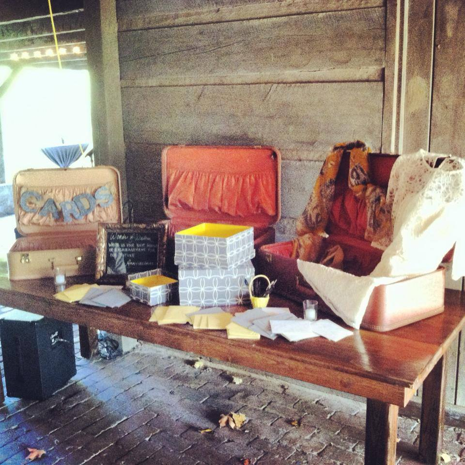 The gift table at The Cabin by the Spring