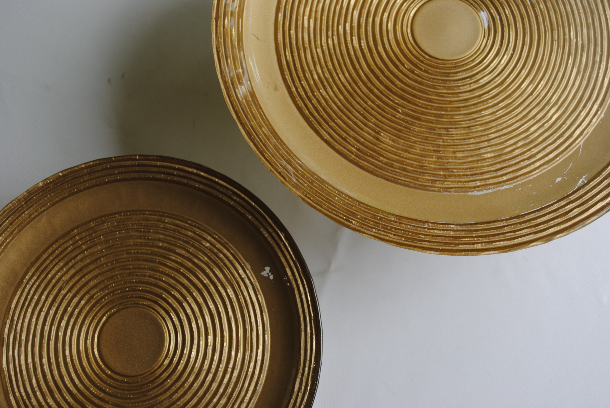 Gold Cake Stands: Sheryl & Shirley