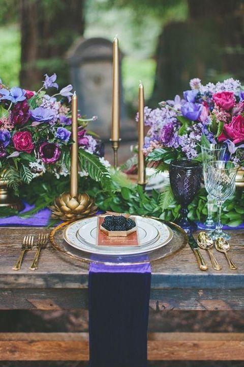 Happy Wed - 30 Jewel Tone Wedding Ideas