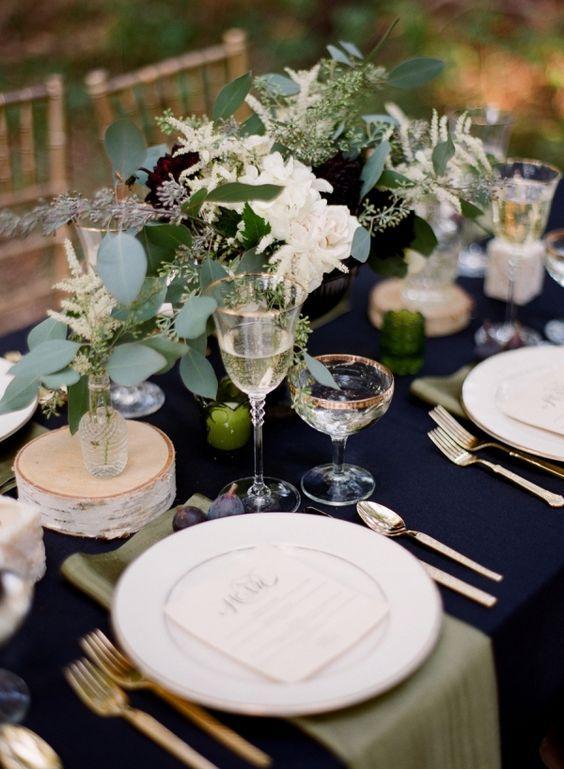 The Wedding Guru - Navy, Emerald, & Black Inspiration