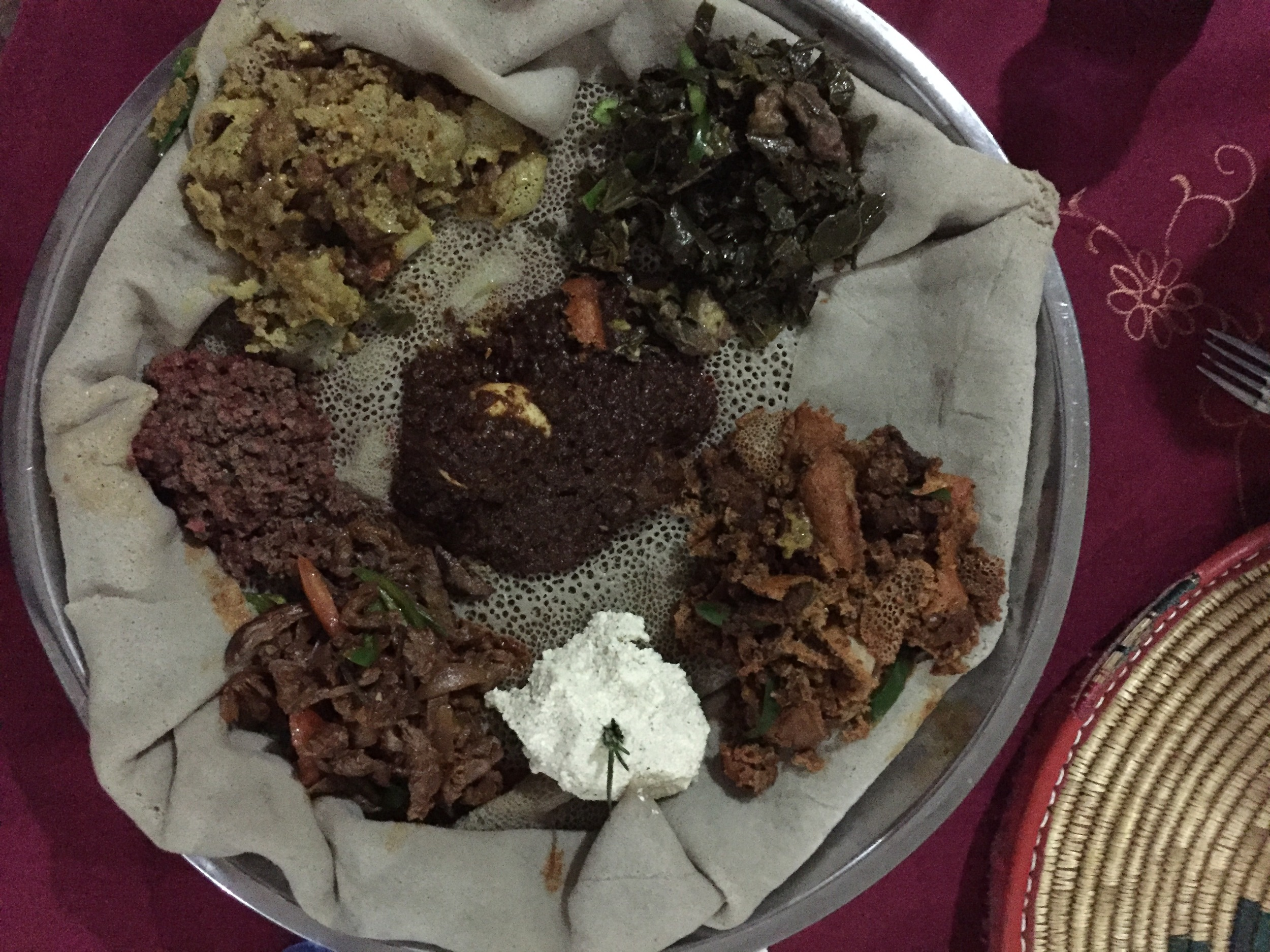 Tried Ethiopian traditional dish. Lots of fun to try, but probably not my favorite. ;)
