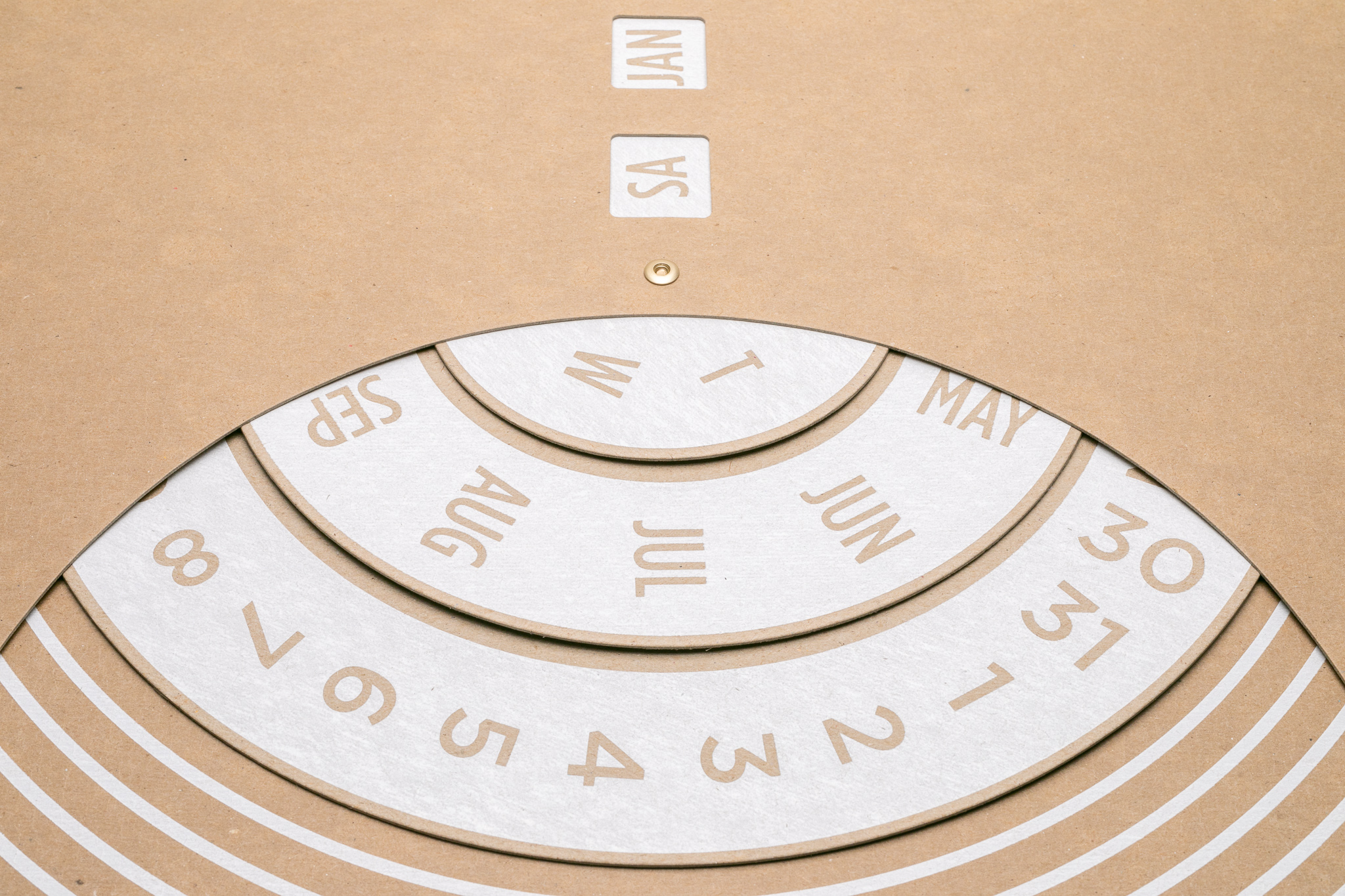 THE CHIPBOARD - –SCREEN PRINTED BY HAND–We use a kraft brown chipboard that's manufactured right down the road from our Detroit studio. The 50 point weight is designed to resist rippling, fading, and warping from the sun over time.