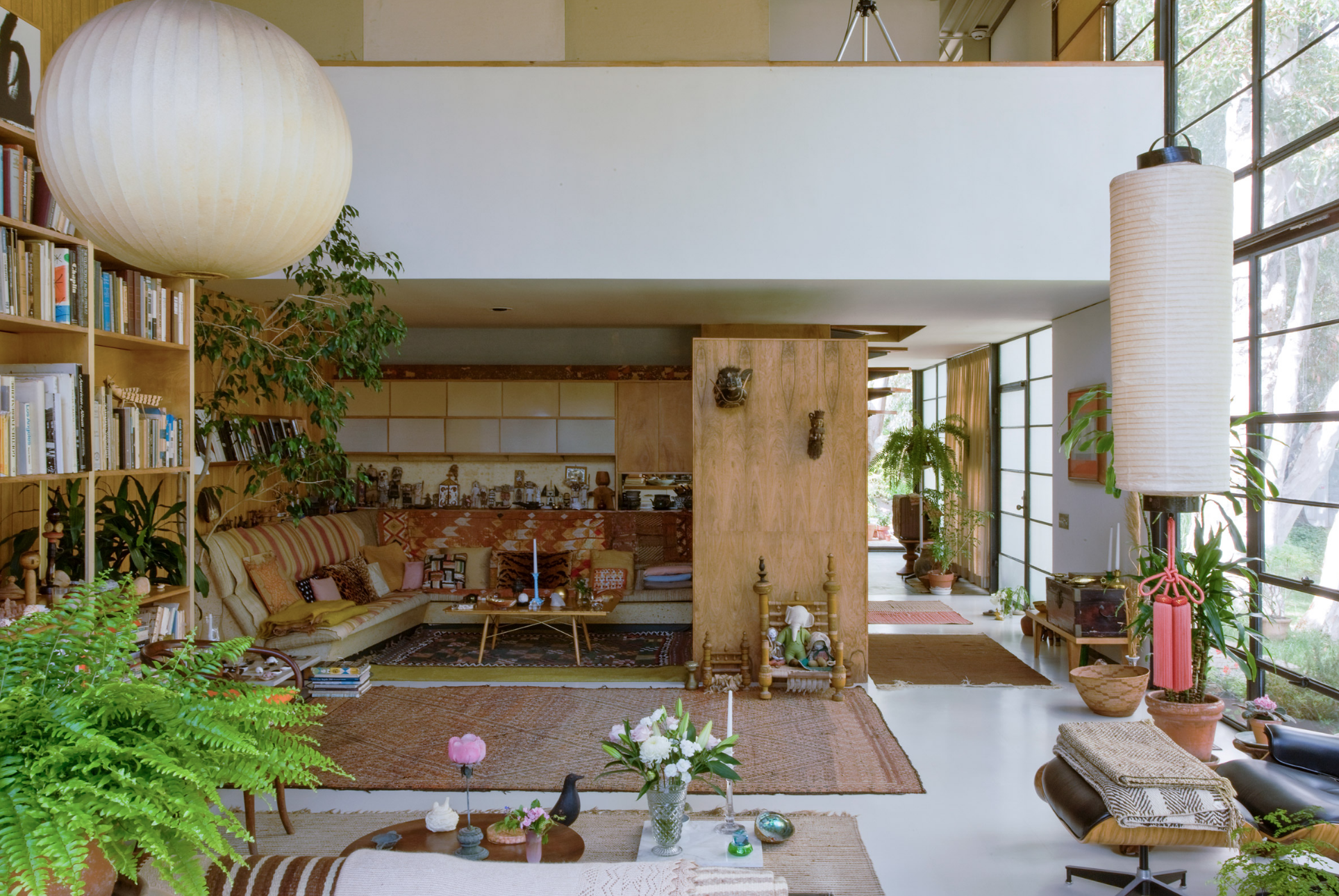 Eames House Living Space | Photo Credit: Leslie Schwartz and Joshua White