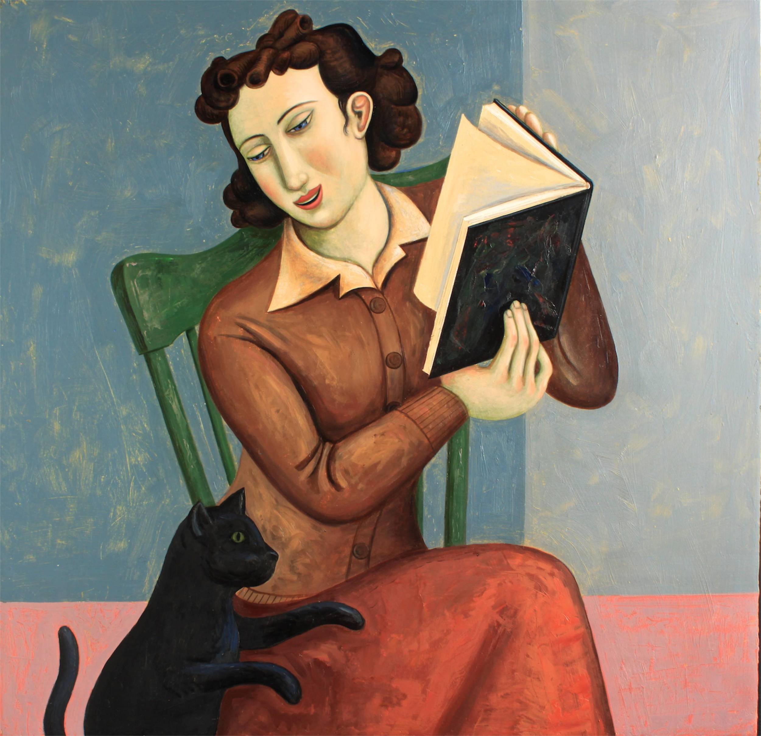 The Distracted Reader (in progress and much changed since this capture. 24x24inches
