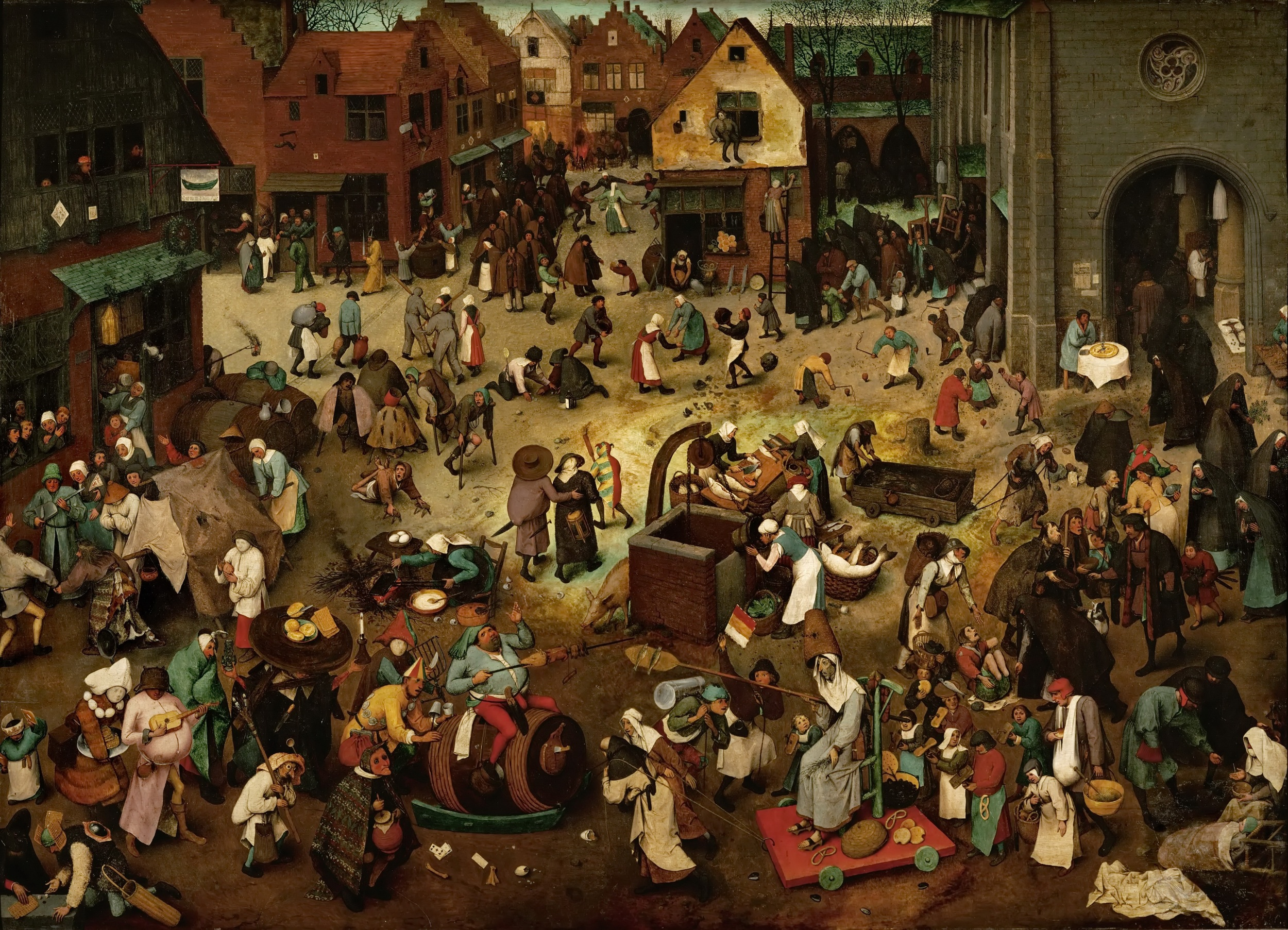 Pieter Bruegel, The fight between carnival and lent