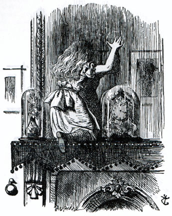 Alice entering into the looking glass