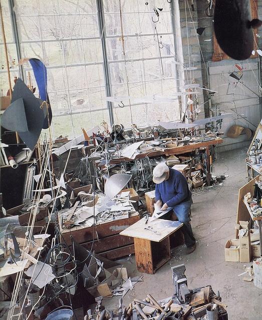 Alexander Calder at work