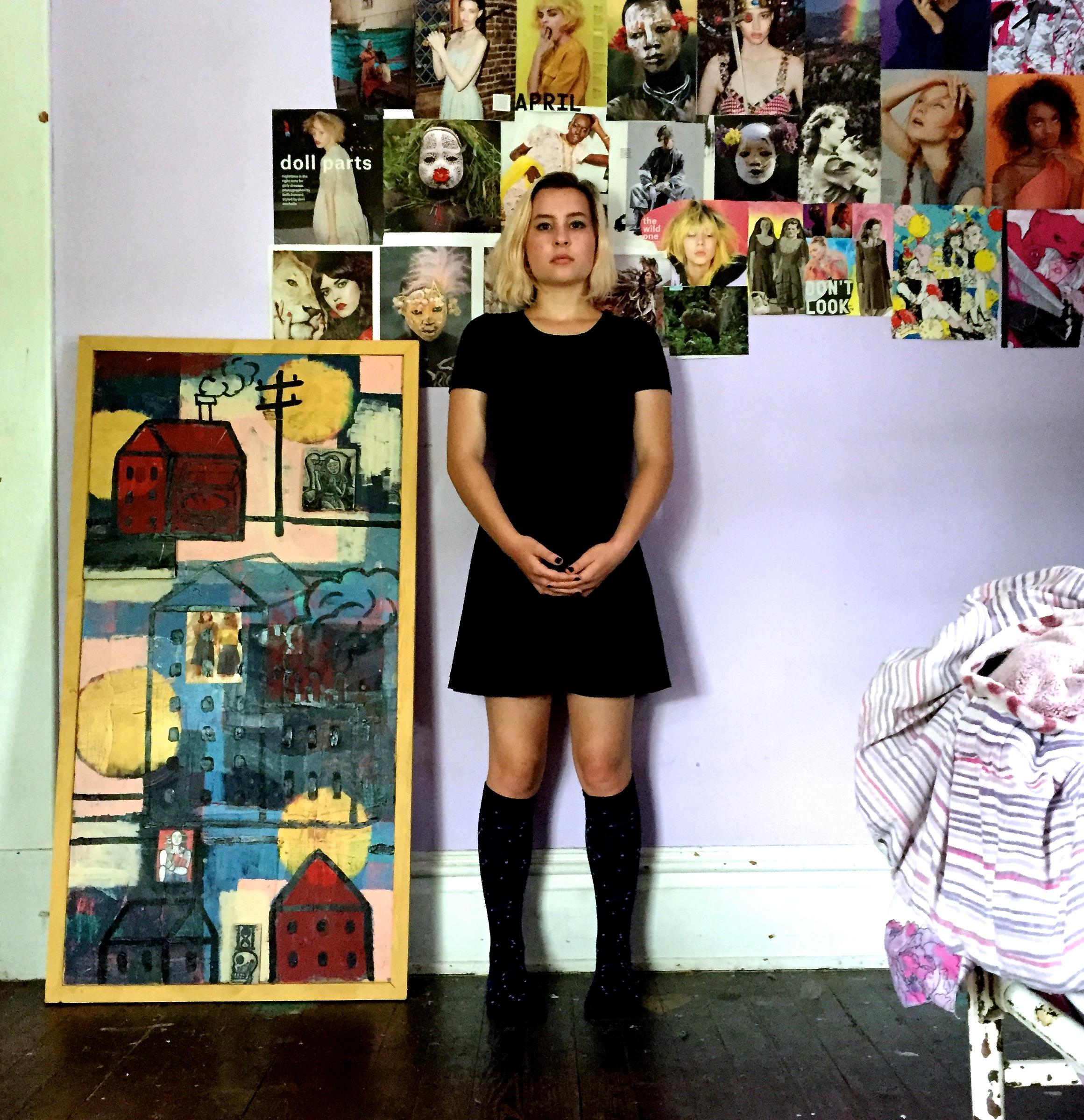Dove Beerhorst in her room