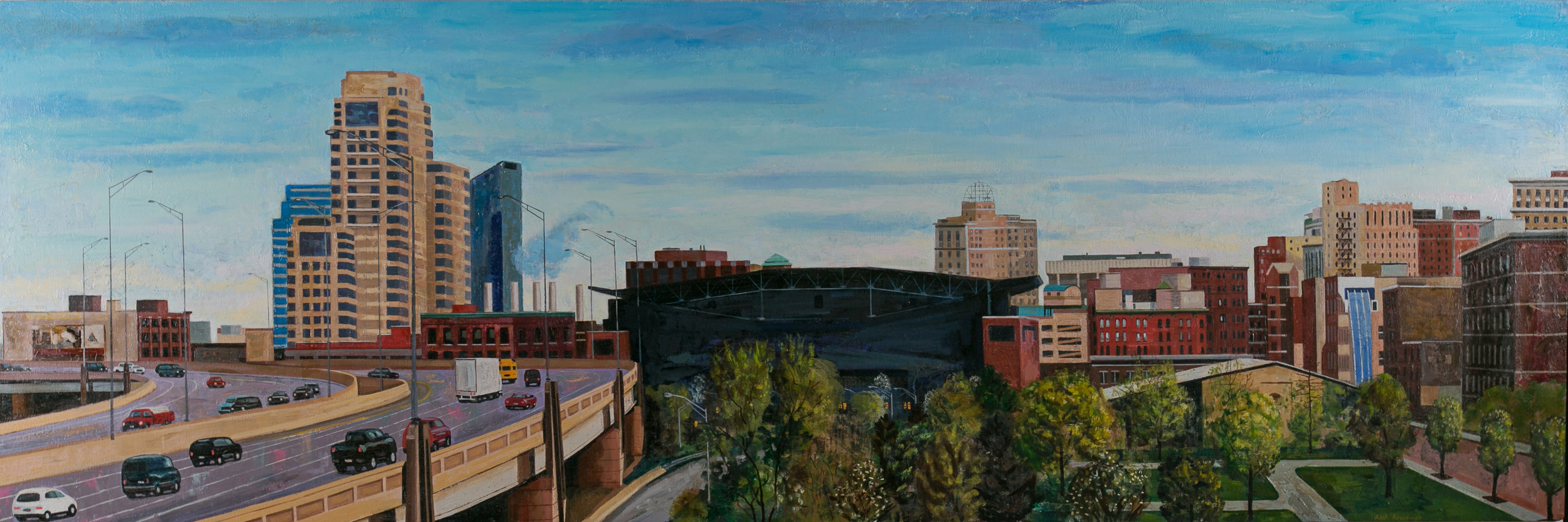 Grand Rapids, View from the Wealthy Street Overpass