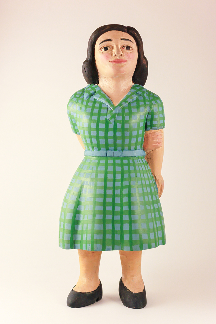 Woman in Green Plaid