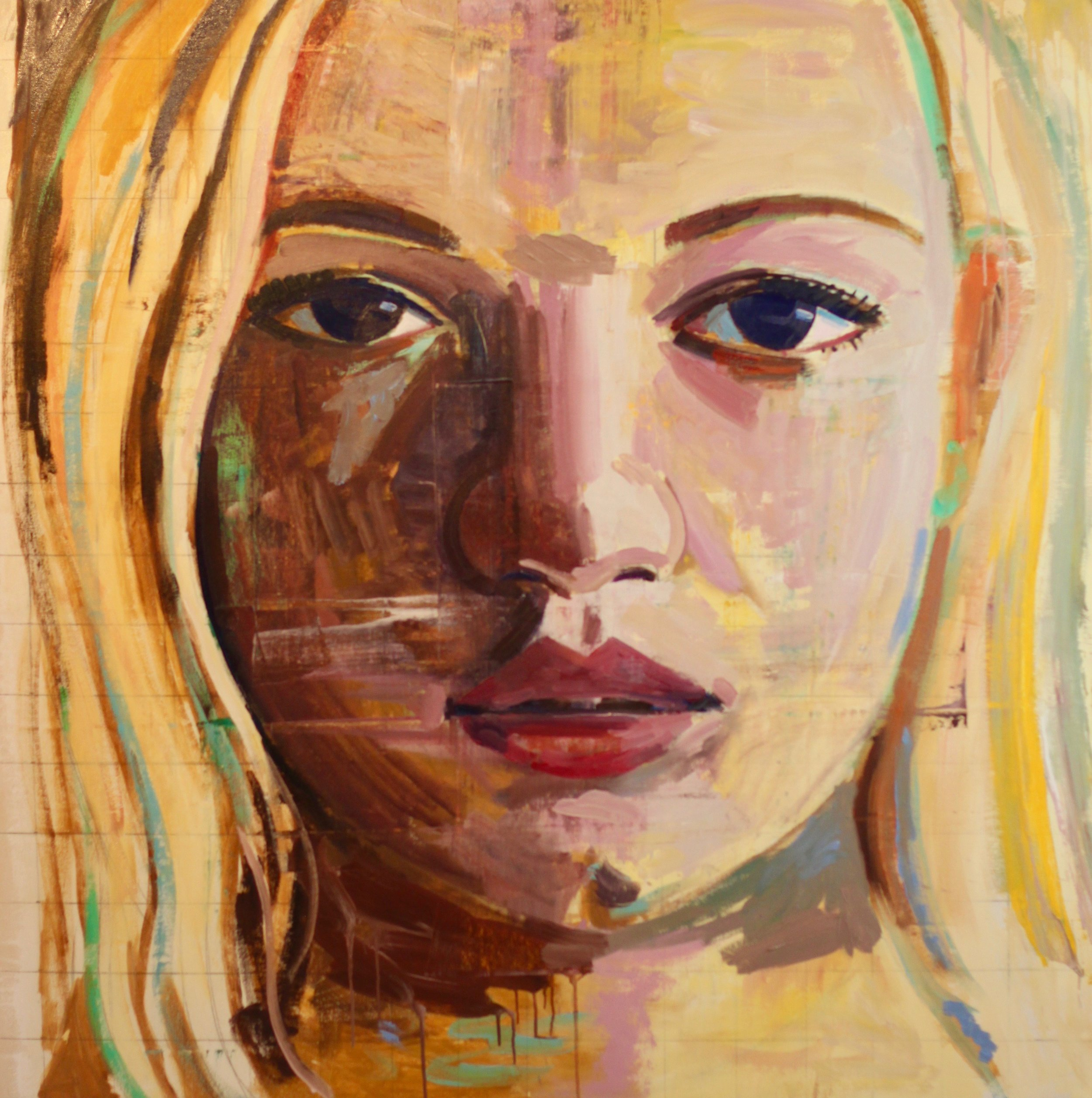 "Emily #1, 54""x54"", oil on canvas, SOLD"