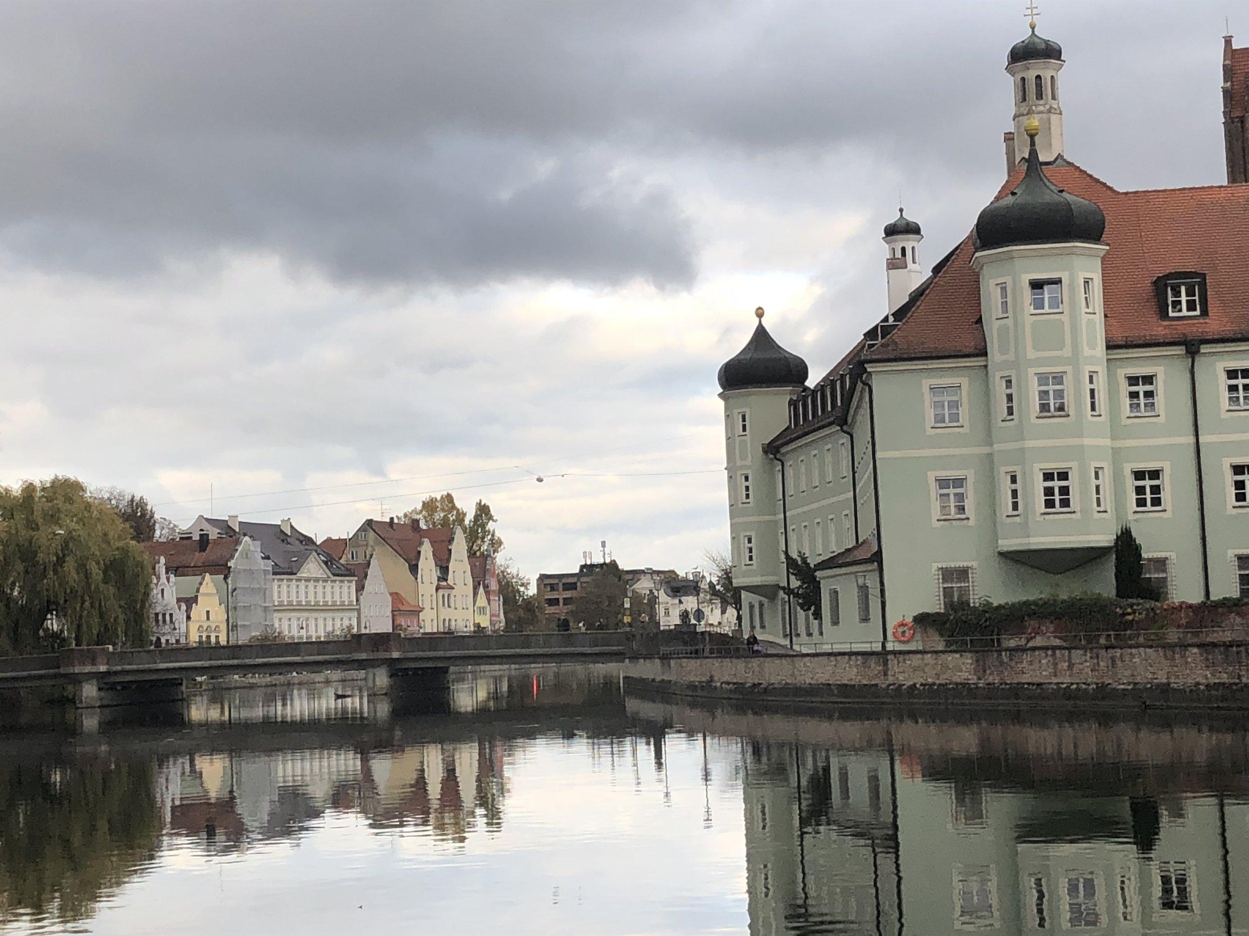 This is the Isar that flows through Landshut on it's way to Munich.
