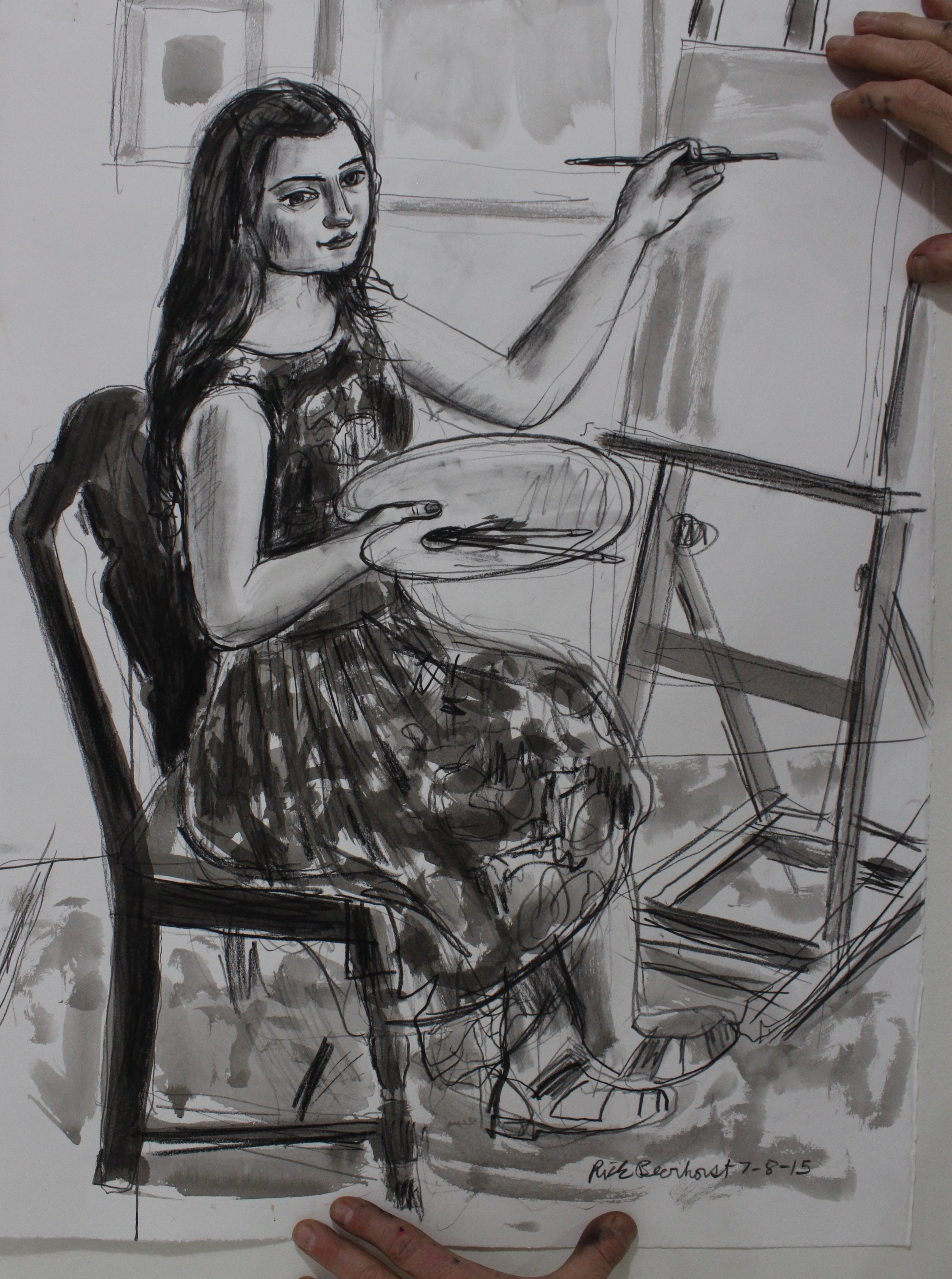 Portrait of Pearl at her easel