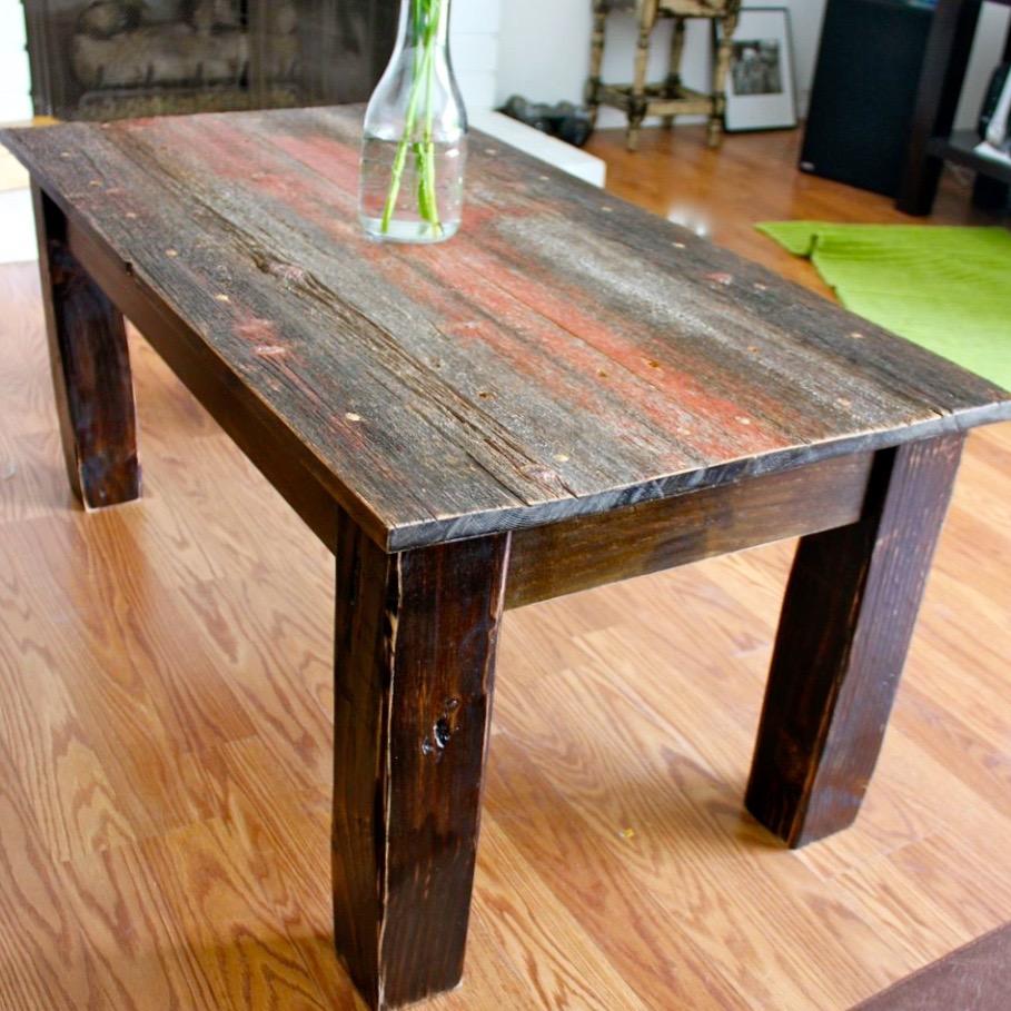 barn wood coffee table reclaimed wood los angeles barnwood hardwood