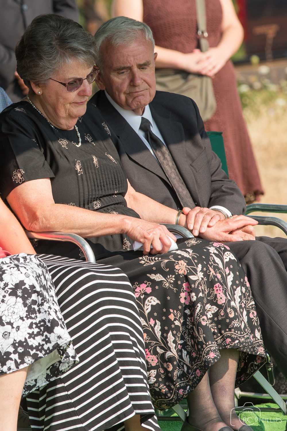 1/200 Sec. @ f/5.6 and ISO 100 Dan's parents Ron and Myrna at graveside service.