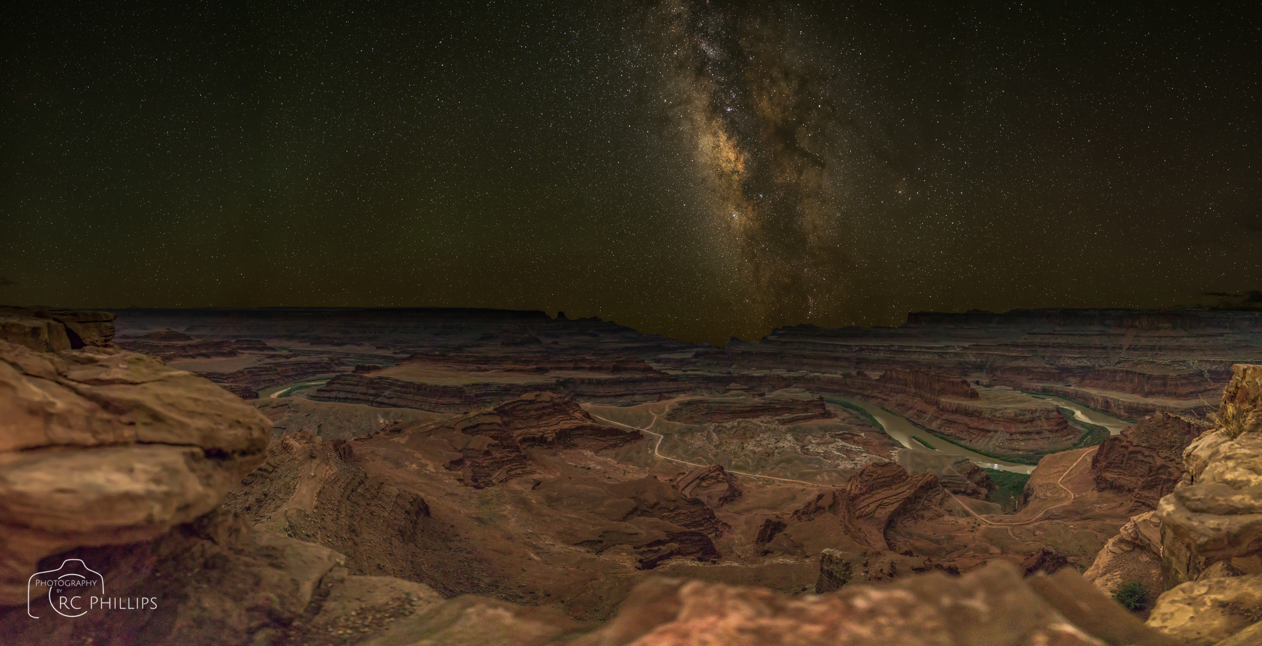Under the Milky Way Galaxy at Dead Horse Point State Park, Utah.
