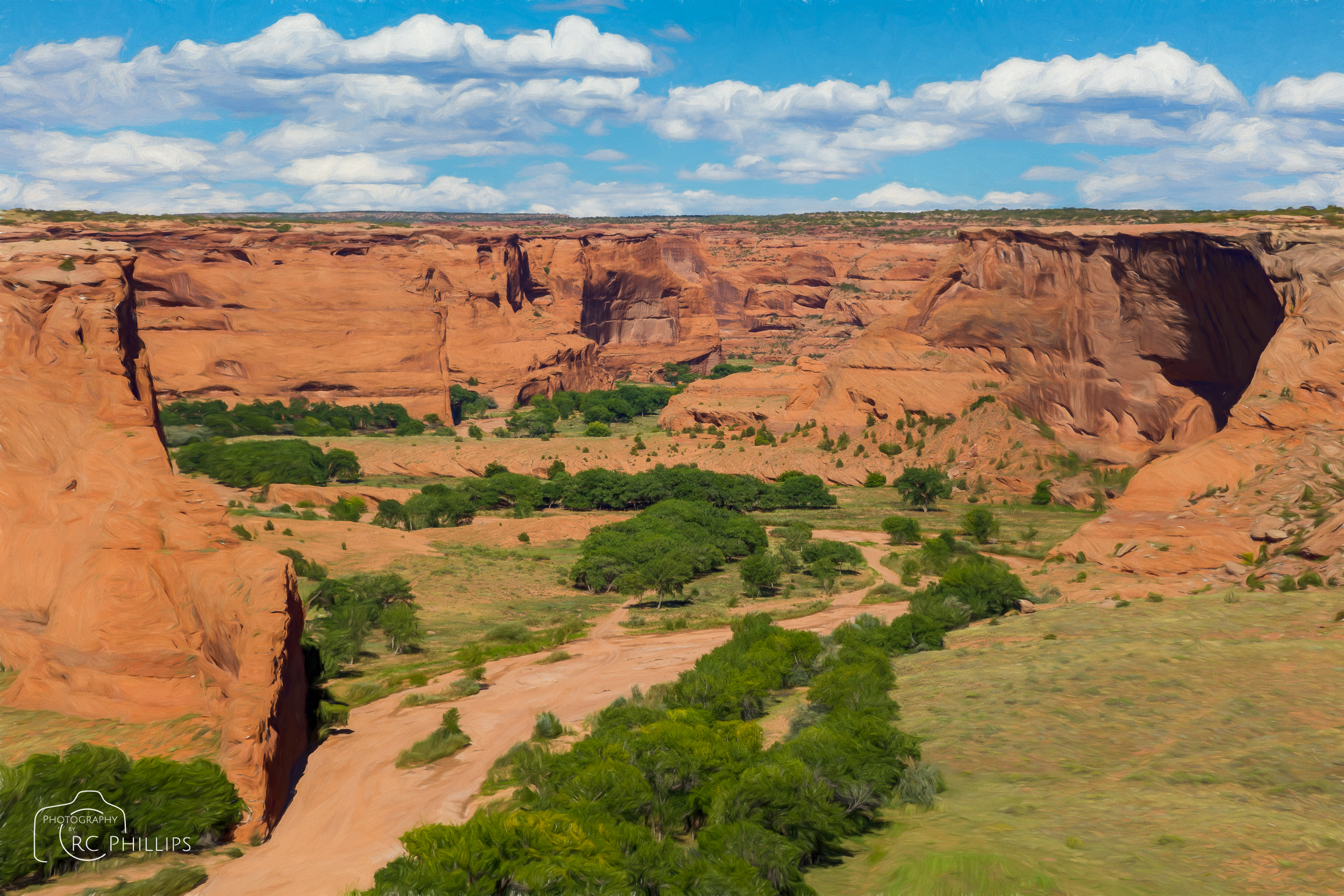 Photo painting of Canyon de Chelly National Monument, Arizona.