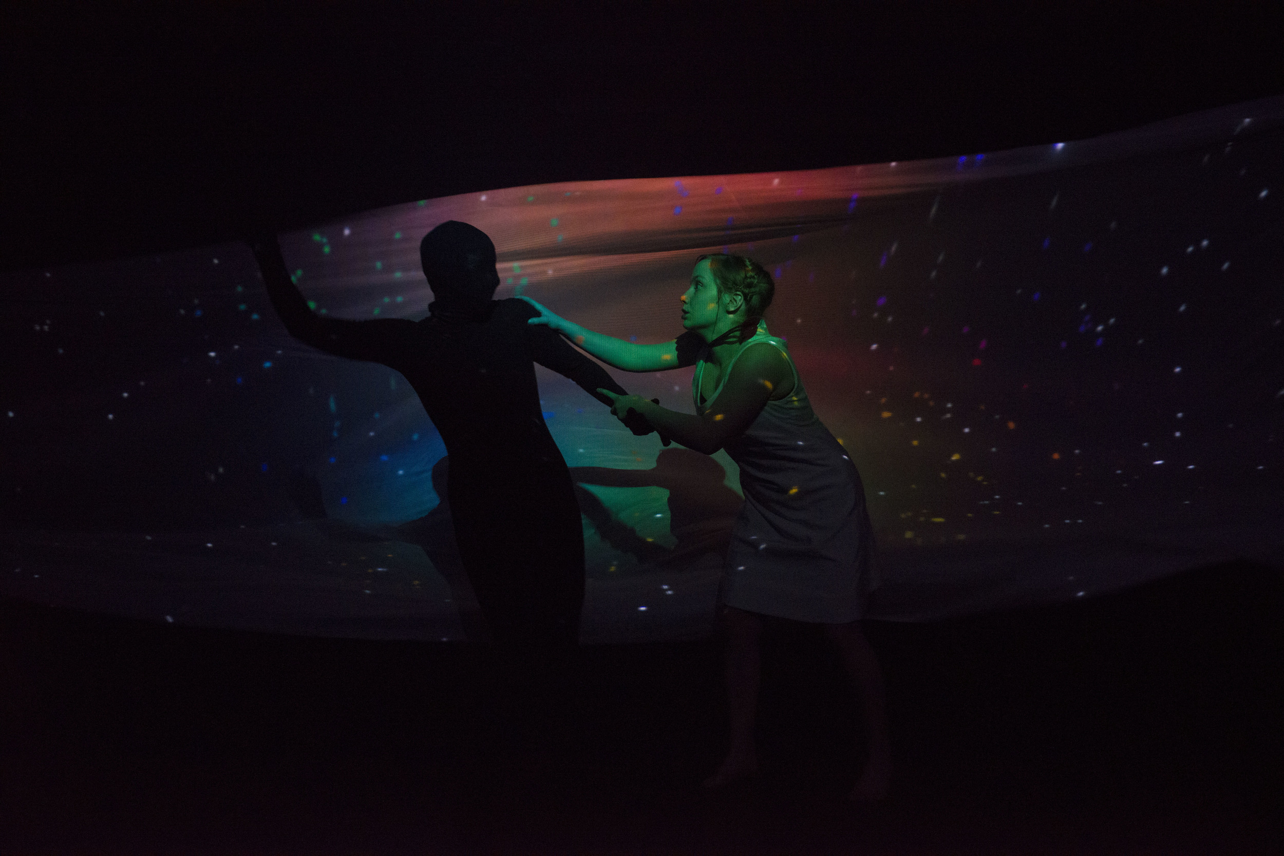 Lucy Hill and Johanna Bundon in A Date with the Night   Photo by Designer Photography