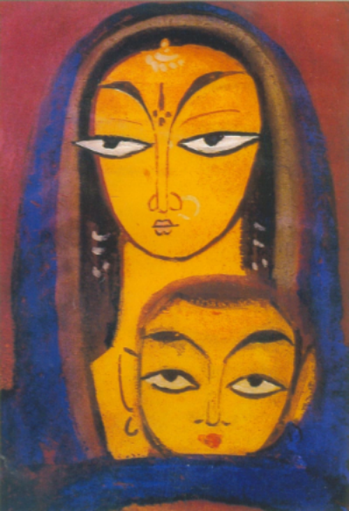 JAMINI ROY, MOTHER AND CHILD, ONE OF MY FAVORITES
