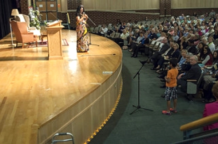RESPONDING TO A YOUNG AUDIENCE MEMBER AT ALL HENRICO READS