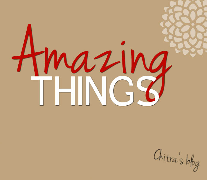 CHECK OUT CHITRA'S BLOG: AMAZING THINGS