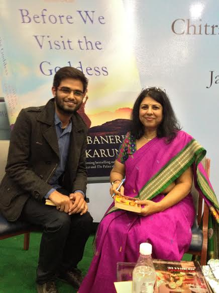 WITH READER NAMAN CHAHDHARY AT THE DELHI LAUNCH