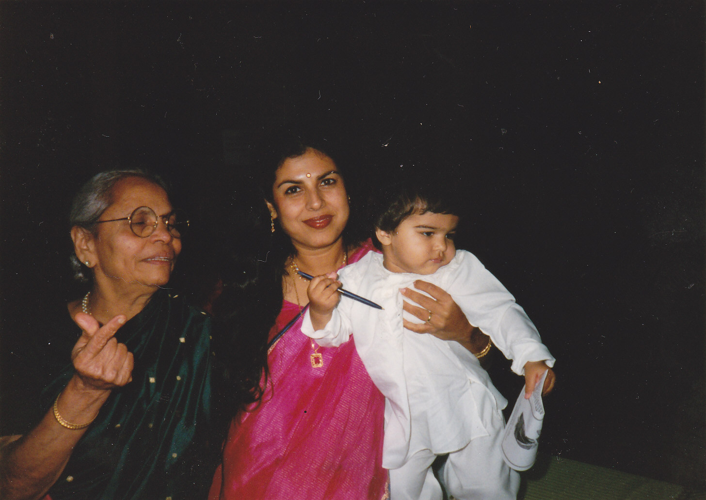 MY MOTHER-IN-LAW WITH MY SON ANAND AND ME