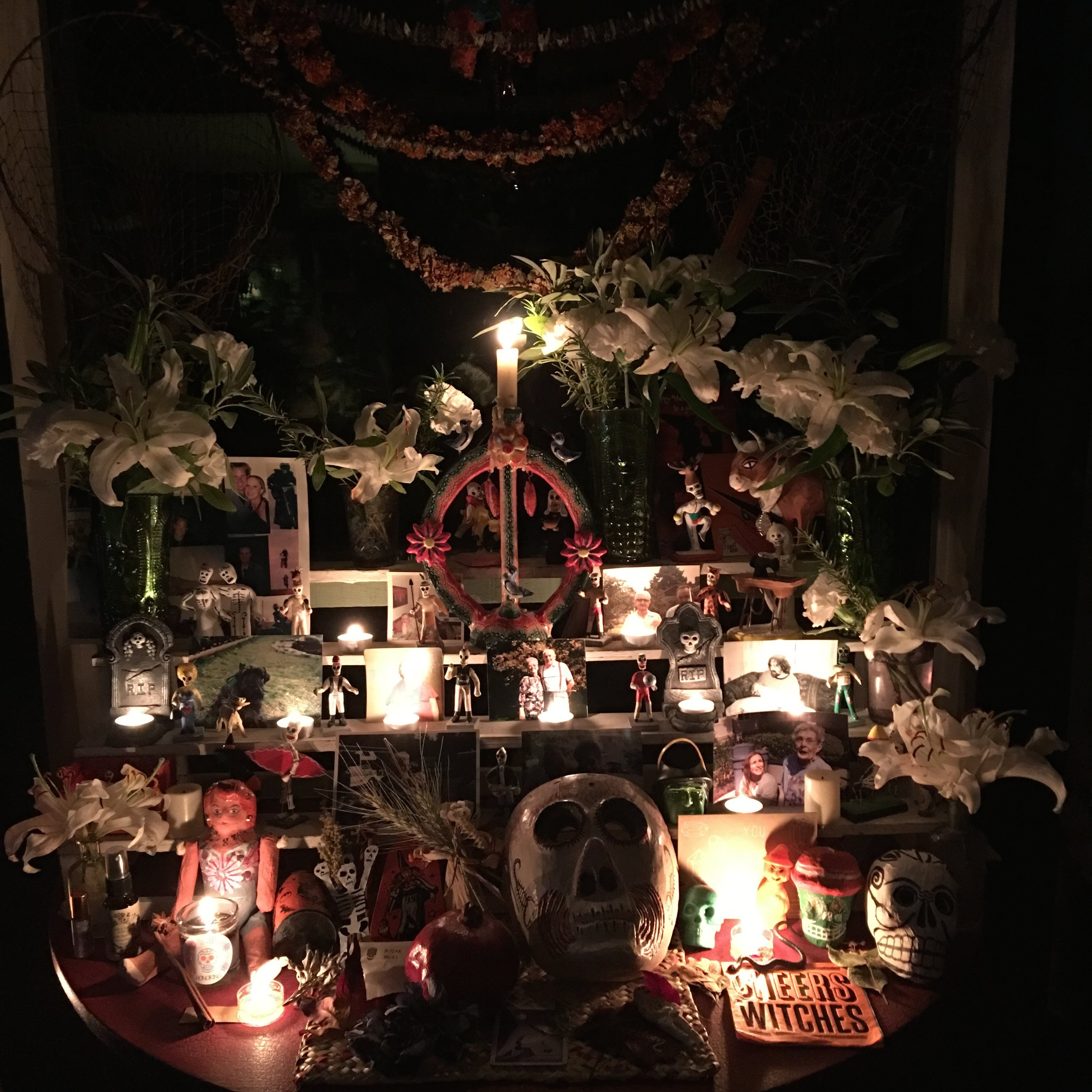 ancestor altar for Samhain - i come from my placental ancestors, i do not walk alone.
