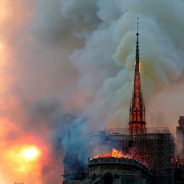 oh sweet holy beloved iconic notre dame cathedral ... i'm so lucky & honored to have spent an early sunrise solo walk around your perimeter last summer and to have witnessed and breathed your inner legendary glory many moons prior.  tragic loss, leaving me, as usual, full of grief and mystery.  r.i.p. 🖤💔🖤 #paris #notredame #parisisburning #notredamecathedral #notredamecathedralparis #cathedralnotredame