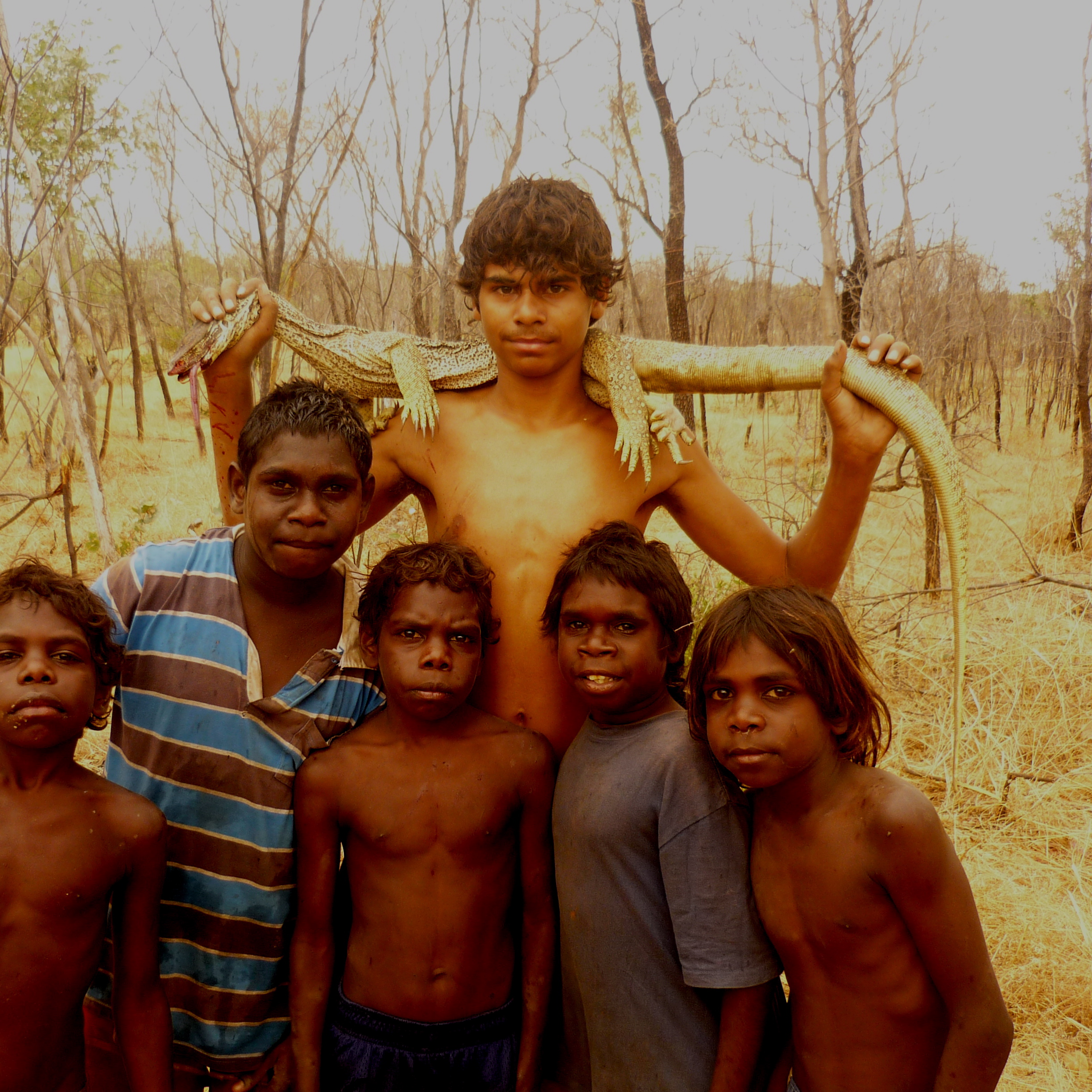 Gija boys catching bush food, 2009. Photograph Ned Sevil
