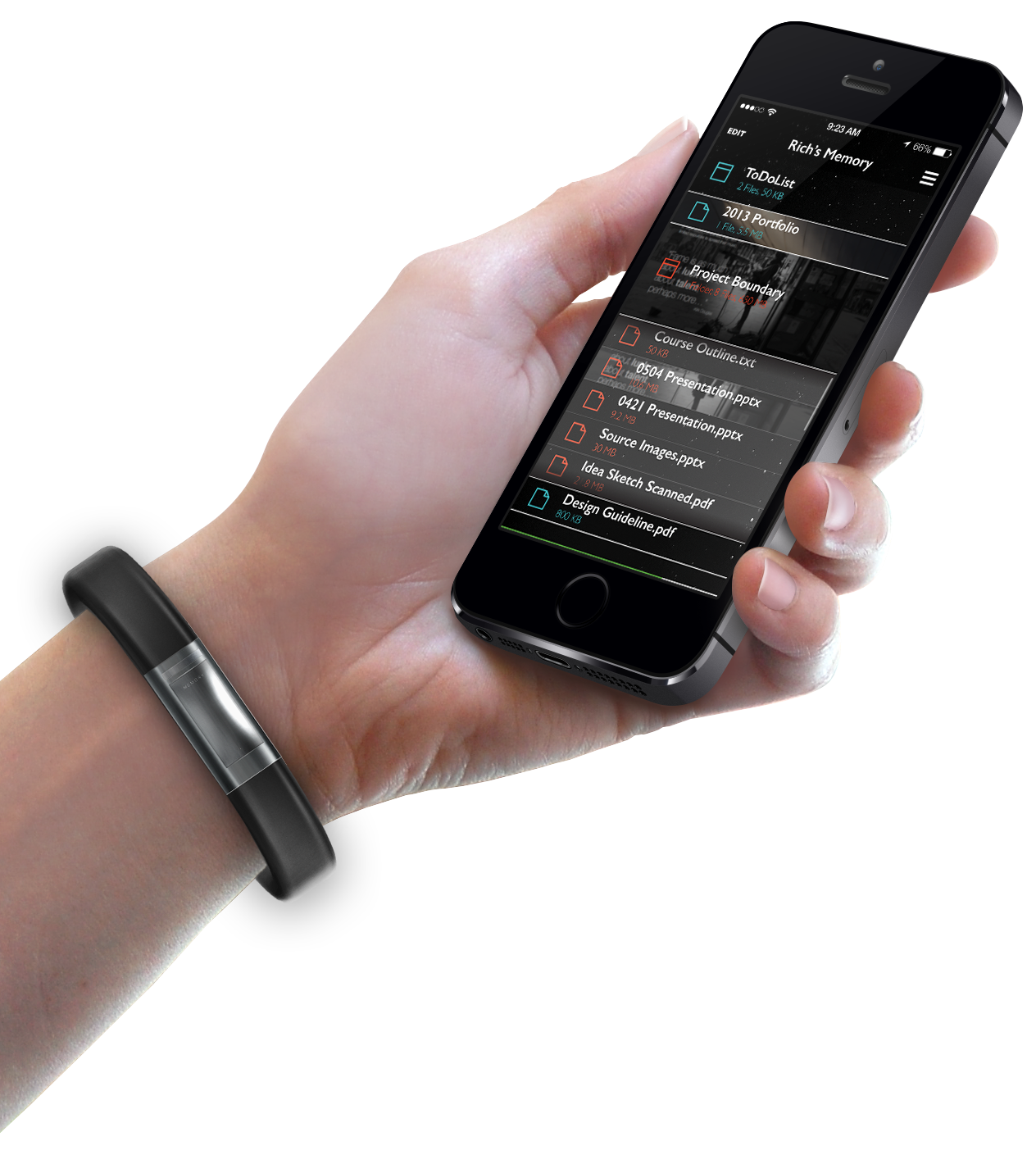 WRIST MOUNT & MEMORY SMARTPHONE APPLICATION