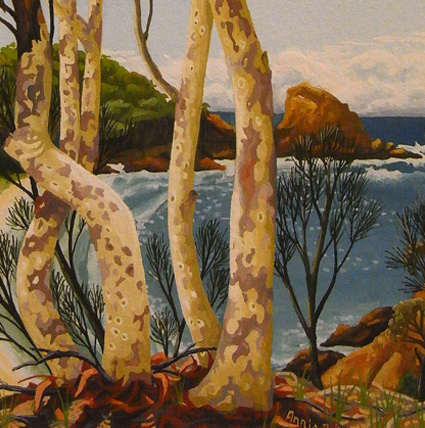 autumn day, Moon Bay 'south coast' series  13cm x 13cm editions of 80   $60