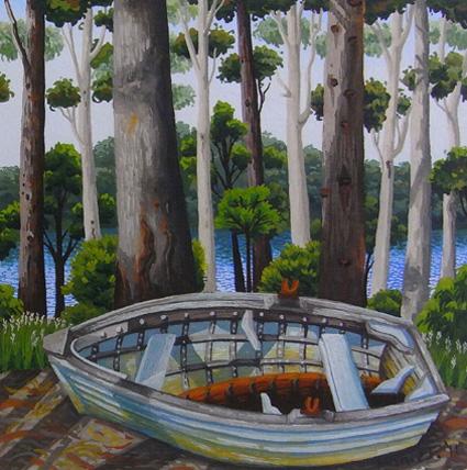 dry dock, Lake Wapengo 'south coast' series  13cm x 13cm editions of 80   $60