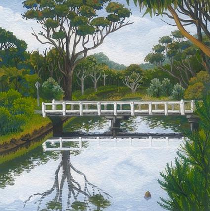 Wapengo Creek   'south coast' series  13cm x 13cm editions of 80   $60