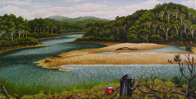 receding tide, Nelson's Lagoon   'south coast' series  13cm x 25.5cm editions of 80   $60