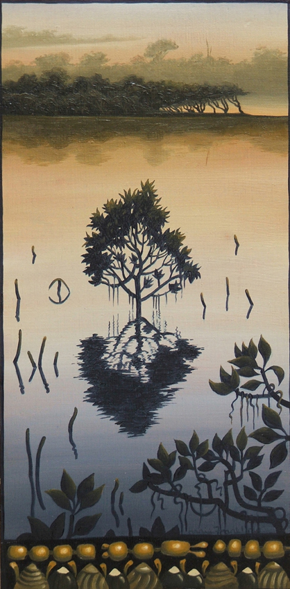 mangrove I   oil on board 31 x 16cm