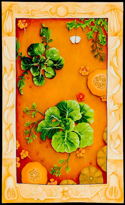 homage to Fukuoka, autumn  acrylic and oil on board 93.5 x 62cm