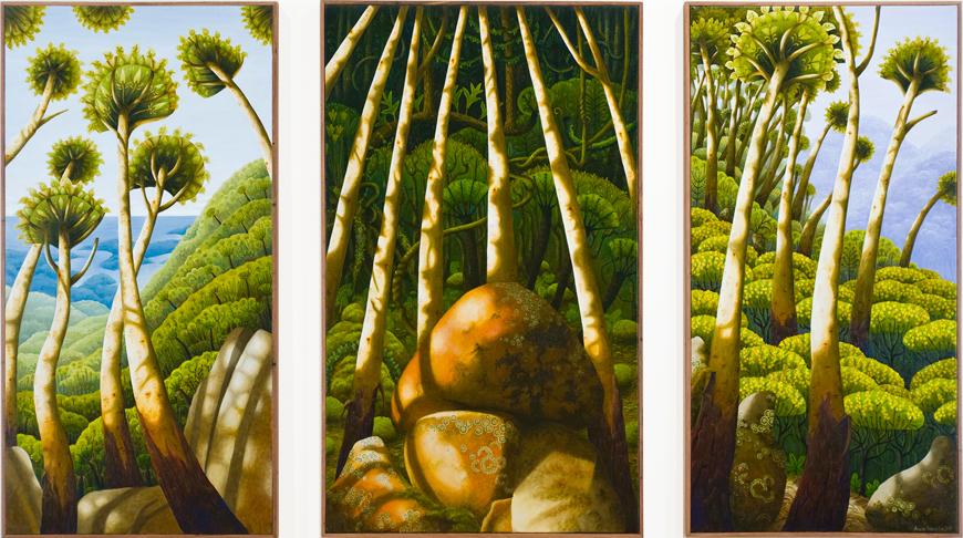 sacred mountain, Gulaga  acrylic & oil on canvas 103 x 182cm
