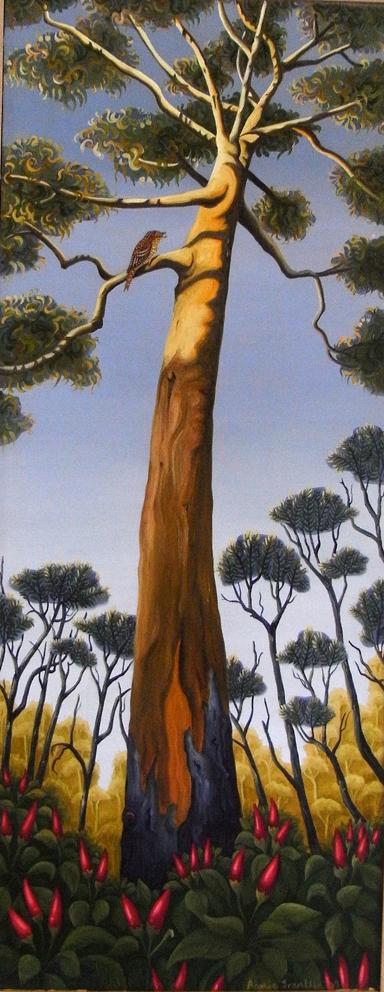 birdseye  acrylic and oil on canvas 28 x 69.5cm