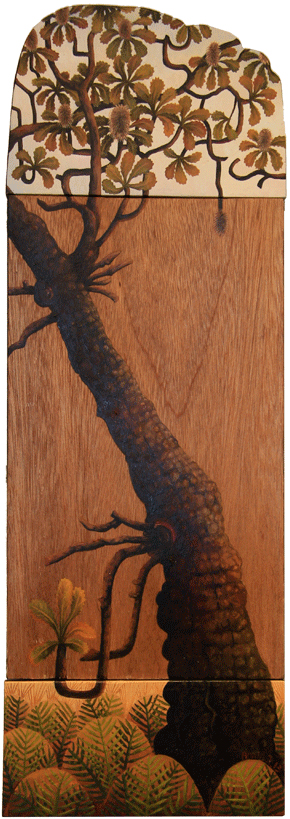 tidal zone I. banksia  oil on timber panels 54 x 18cm