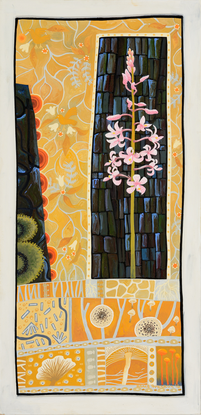 symbiosis   gouache and wax on board 48.5 x 25.5cm