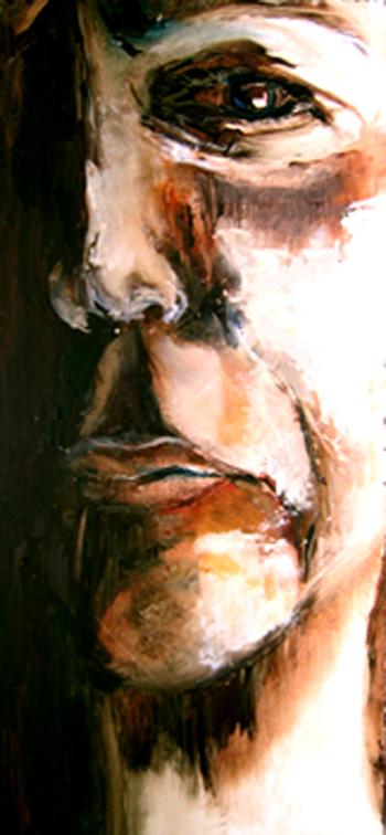 Sarah Pierroz_Painting_Women and Pain Thesis Series_Face Close Up.jpg