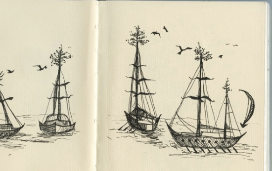 sarah pierroz sketch of boats.jpg