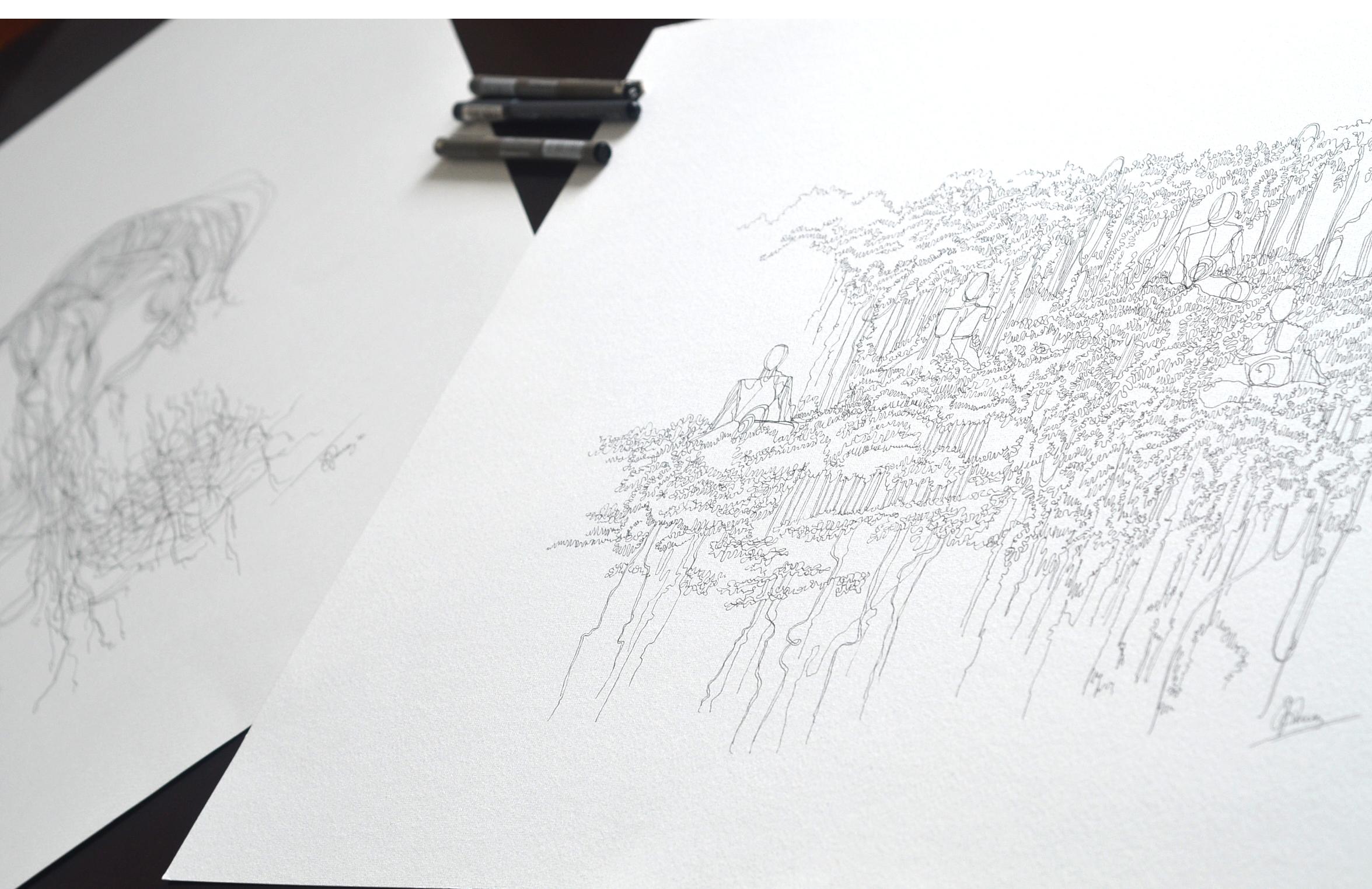 YOGI TREE. A3. Ink on Paper.
