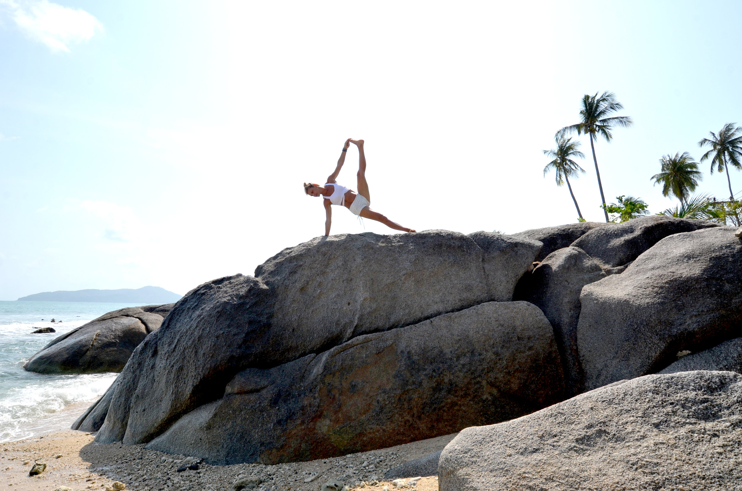 Stability, power and grace on the rocks. Love it. Another beautiful day shooting on the beach, with Vicky from Israel.