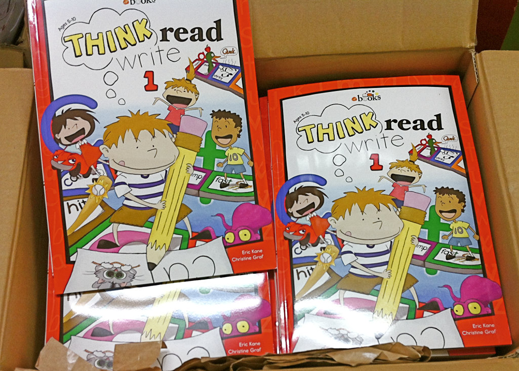 A phonics workbooks our students use.