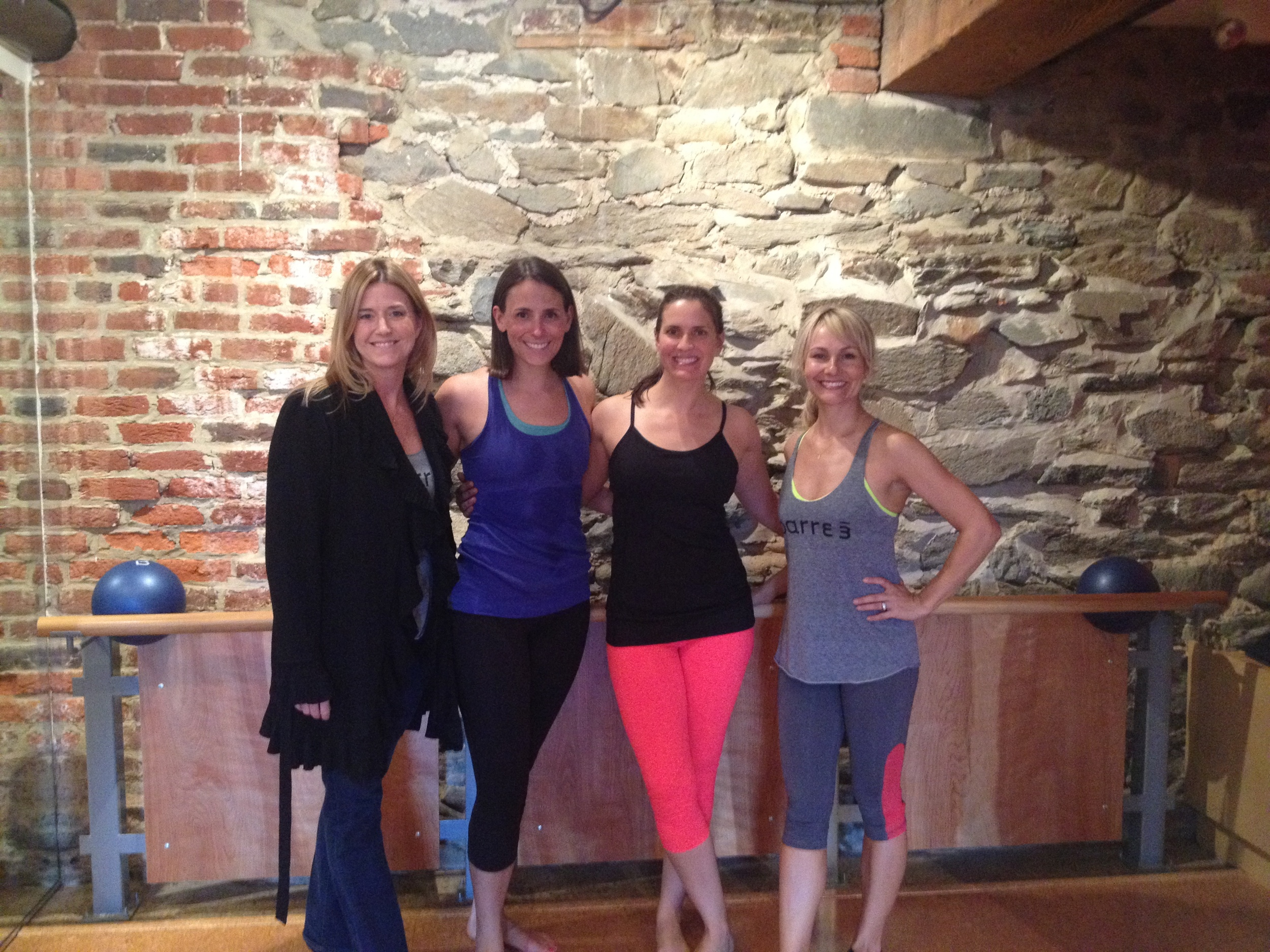 Jill (the owner of Barre 3 in Georgetown), Katie, Me, Sadie (founder and creator of Barre 3) after class