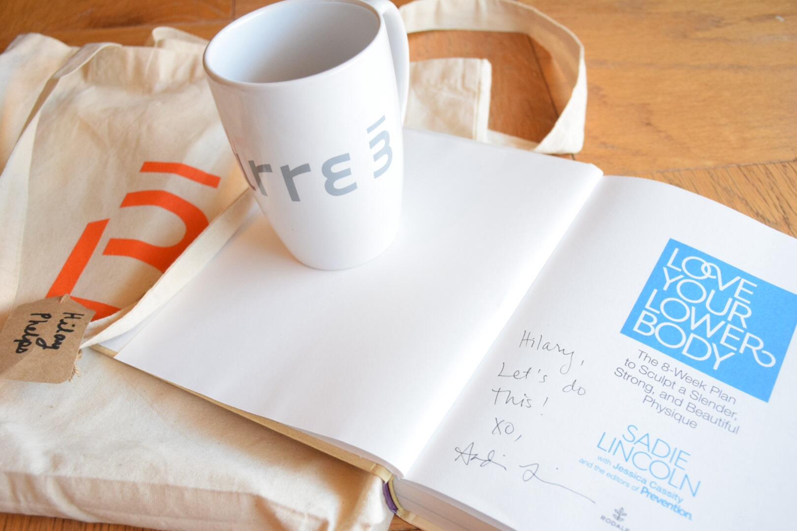 signed book, mug, bag.JPG